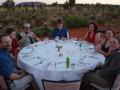 Dinner in Coober Pedy: Air Safaris International