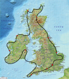 UK & Ireland tour map: Air Safaris International