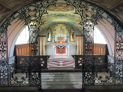 Inside the Italian Chapel.