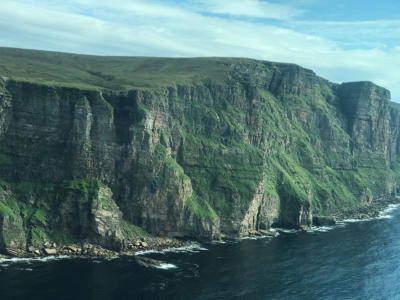 Orkney Islands sea cliffs, west coast.