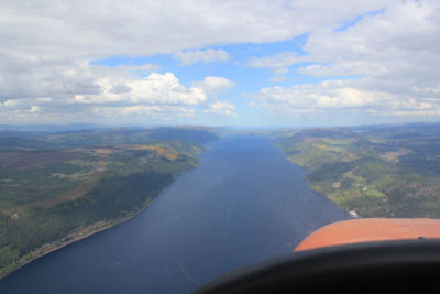 Loch Ness, south west of Inverness.