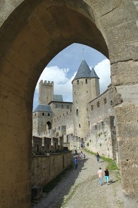 An ancient arch at Carcassonne