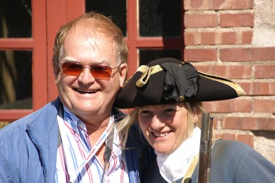 Making friends at Fortress of Louisbourg