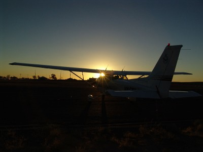 Sunset at Birdsville Airport