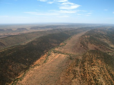 Macdonnell Range near Alice Springs