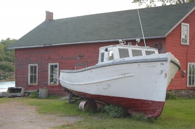 Retired fishing boat