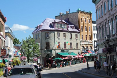 Old Quebec on the walking tour.