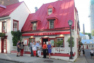 Quebec City restaurant.