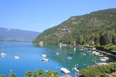 Lake Annecy from L'Abbaye de Tailloires