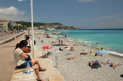 Beach and Promenade des Anglais at Nice
