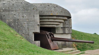 German guns overlooking the Normandy beaches