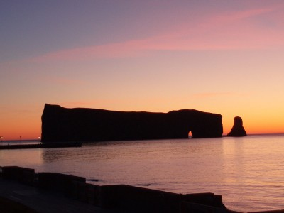 Perce Rock at dawn.
